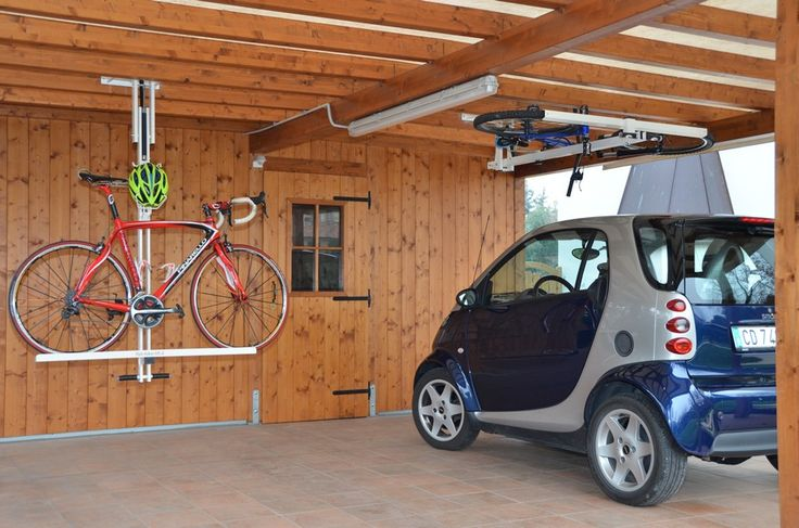 design ingenious bike system Flat bike lift Or How to Park Your Bicycle On The Ceiling [Video]