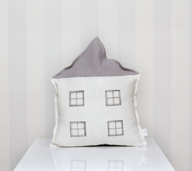 White Linen Throw Pillow : House - Decorative pillow cover - linen white/grey L u l u & H e l i n a Pinterest Pillow ...