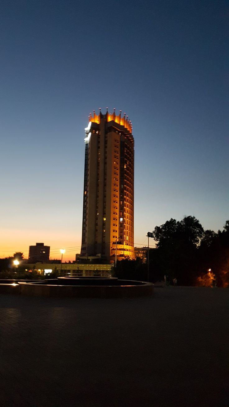 """The famous """"Kazakhstan"""" Hotel  was the highest city building till the beginning of XXI century. It was constructed by soviet engineers using an innovative cinematic basis made of concrete which helps to prevent building damage in cause of earthquake. Building's cinematic basis is able to slide in limited radius."""