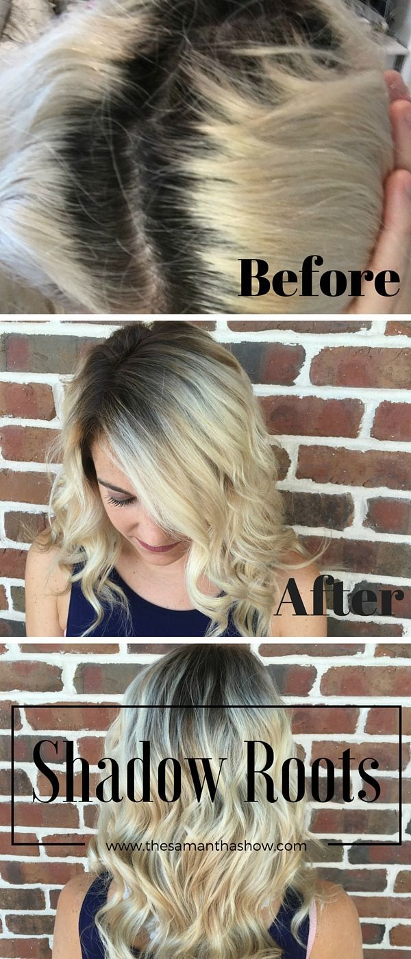 Looking for the perfect hairstyle to transition from summer to fall? Shadow roots are the perfect way to add some darker color to your blonde and give you perfect fall locks.
