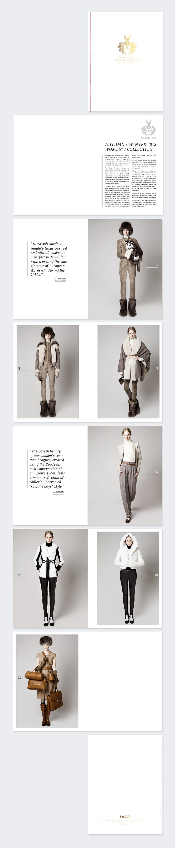 TAMSIN ALLEN / CREATIVE — Bally lookbook magazine