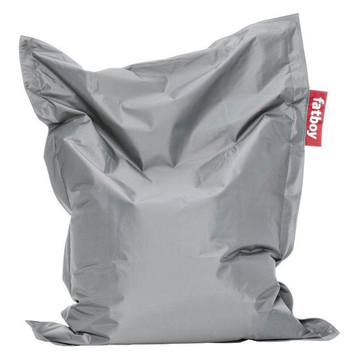4-Foot Fatboy Junior Large Bean Bag Chair Silver - JUN-SLV