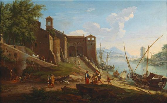 The roman harbour Ripa Grande de heush