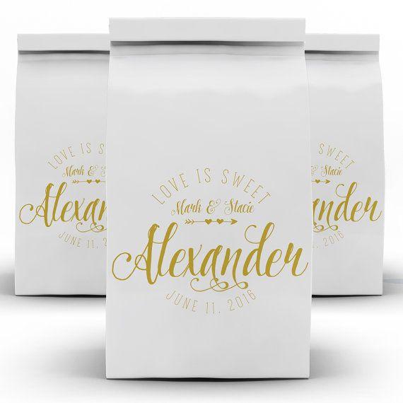 Wedding Favor Bags Candy Bags Dessert Bar Candy by LoveMrandMrs