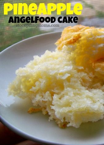 Pineapple Angelfood Cake - This Packet cake mix is not available in Australian Supermarkets