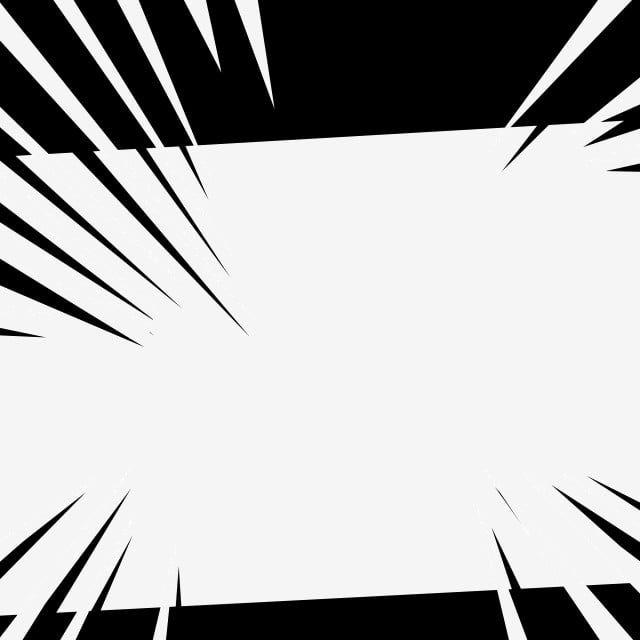 Bordure Noire Et Blanche Comique Frontiere Comique Manga Frontiere Fichier Png Et Psd Pour Le Telechargement Libre Black And White Cartoon Black And White Painting Animals Black And White