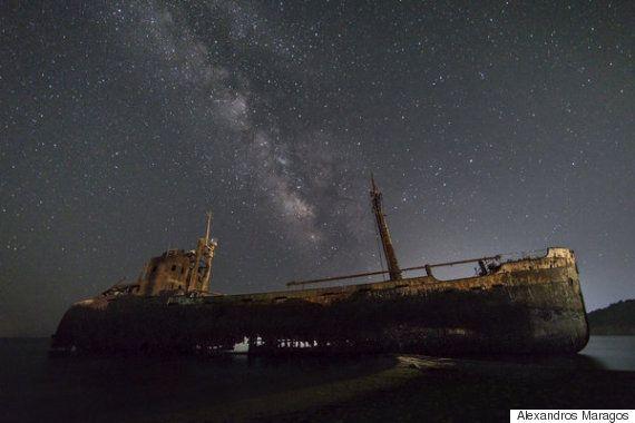 그리스에서 찍힌 은하계 사진은 숨이 멎을 정도로 아름답다
