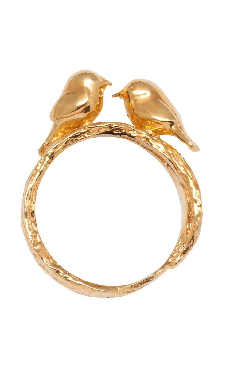 Love Birds Ring / Alex Monroe Would love this as a fun wedding band to wear occasionally! To symbolize me 'n my love bird :)