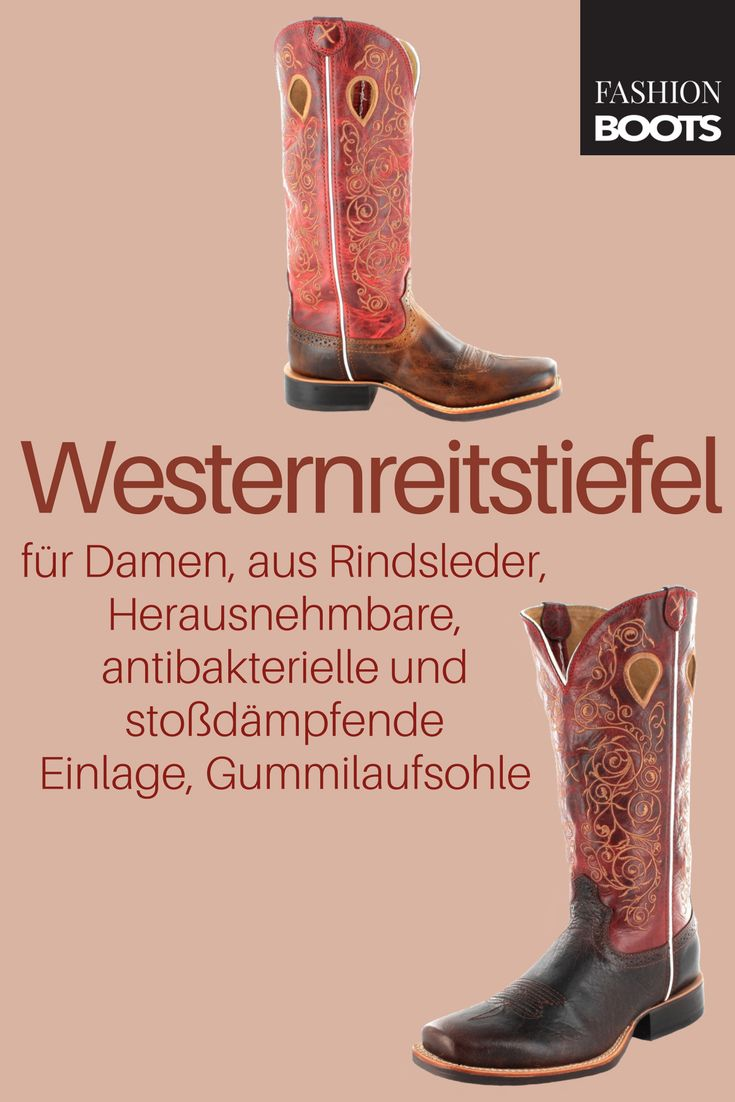 Twisted X Boots Twisted X Boots RUFF STOCK 1743 Saddle Red Westernreitstiefel - braun rot | Modischer Damen Westernreitstiefel aus der Twisted X Silver Buckle Kollektion