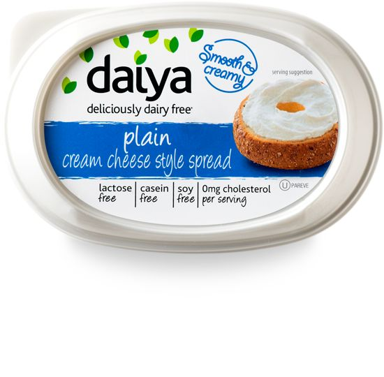Daiya dairy-free plain cream cheese alternative - best of the vegan cream cheese style spreads we've tried