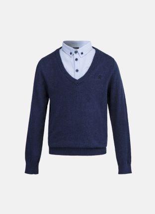 Джемпер с имитацией рубашки за 1599р.- от OSTIN
