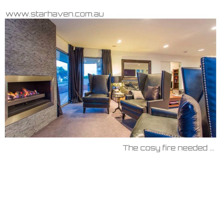 "The cosy fire in the games room at Starhaven Retreat, A Grand Design. ""You should be here!"""