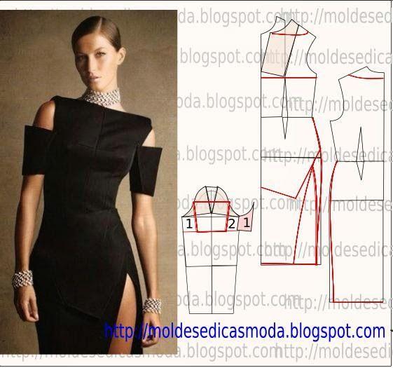 TRANSFORMAÇÃO DE VESTIDO-153 ~ Moldes Moda por Medida
