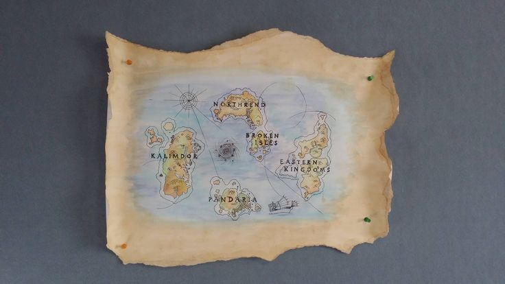 My WoW-hating girlfriend made an A3 map of Azeroth for xmas. #worldofwarcraft #blizzard #Hearthstone #wow #Warcraft #BlizzardCS #gaming