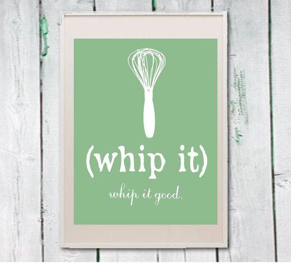 Whip it whisk kitchen art printable print Instant by Lebonretro, $4.50