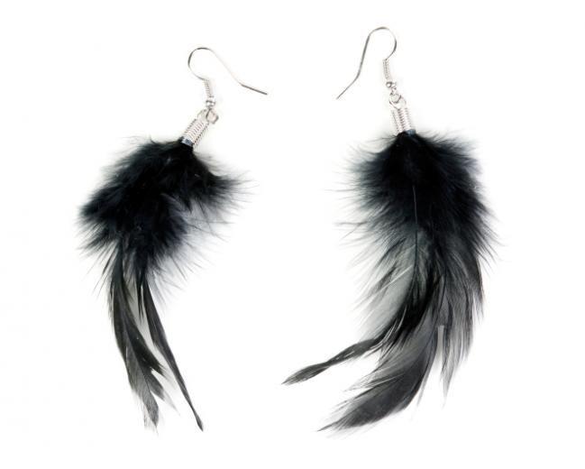 Las 25 mejores ideas sobre pendientes de plumas en - Manualidades con plumas ...