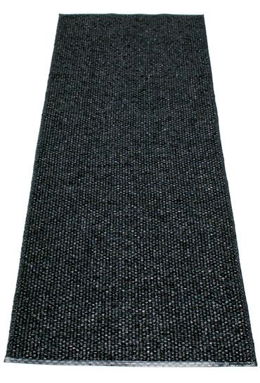 Pappelina Plastmatta Svea, color: Metallic Black / Black.