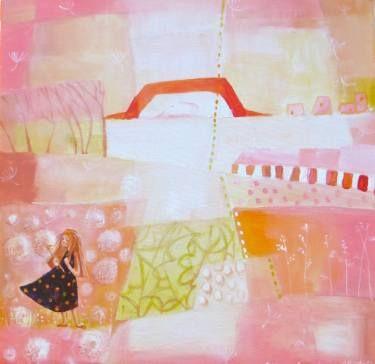 "Saatchi Art Artist Alexandra Krasuska; Painting, ""Make a wish"" #art"