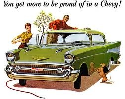 """1957 Chevrolet Bel Air - """"You get more to be proud of in a Chevy!"""""""