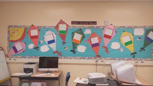 Kite inspired High flying work bulletin board