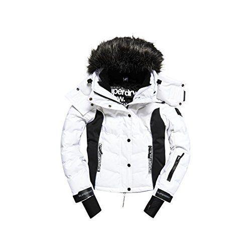 Veste De Ski Superdry Snow Puffer White: Veste de ski femme SNOW PUFFER WHITE de la marque SUPERDRY. Un aspect doudoune qui vous gardera…