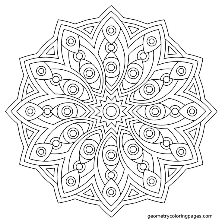 Love Geometric Coloring Pages