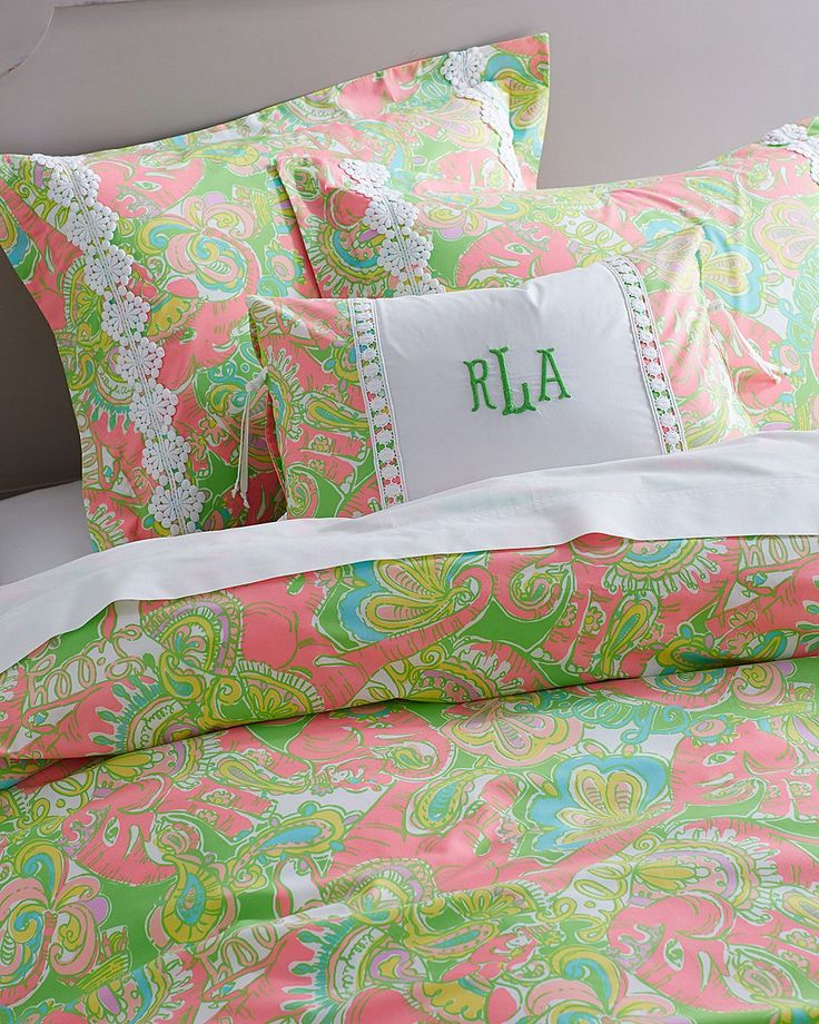 Lilly Pulitzer Sister Fls Duvet Cover Collection In Chin Sparkle Pink