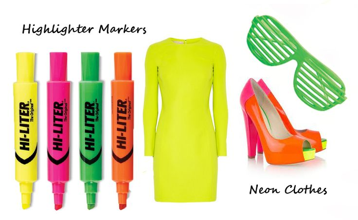 Highlighter Markers and Neon Clothes are back from the 1980s! Brought to you by Shoplet.com - everything for your business.