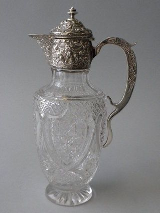.Antiques Silver, Crystals Beautiful, Crystals Decanter, Edwardian Silver, Collection, Antiques Crystals, Cut Crystals, Crystals Glasses, Cut Glasses