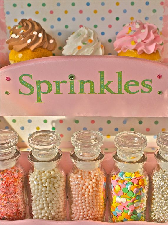 Sprinklessprinkle jarsSpice Rackpastel by marionsvintagebakery-not practical but creative and cute storage solution