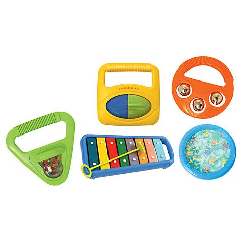 Halilit Toddler Music Orchestra Set, £29.95 at johnlewis.com. Hell for us but great for him! Musical instruments in general would be good.