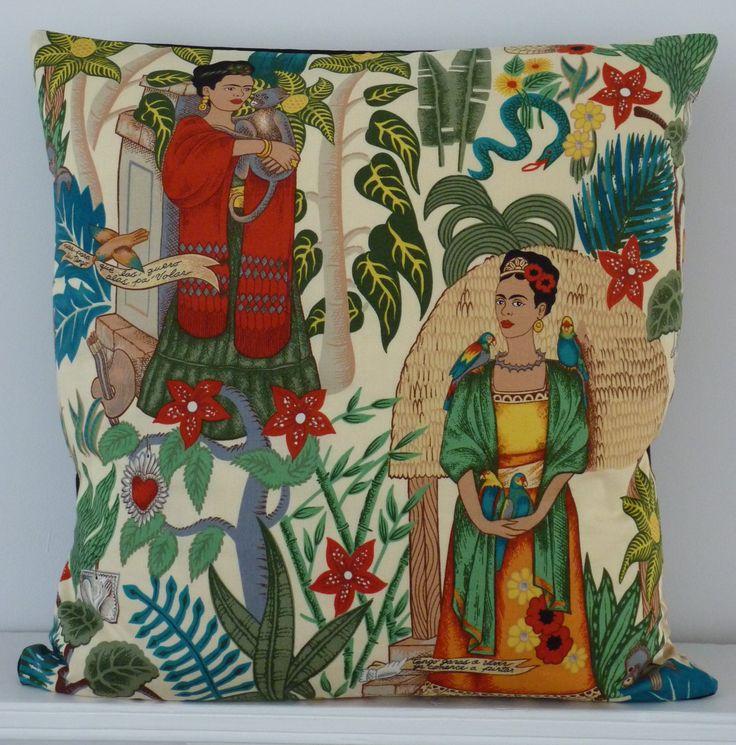 Frida's Garden Cushion Cover (Cream) by alhambrahome | Alhambra Home & Garden