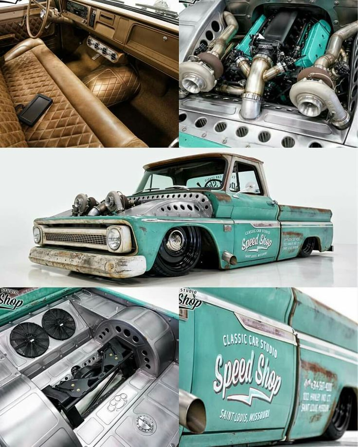 Twin turbo classic Chevy truck