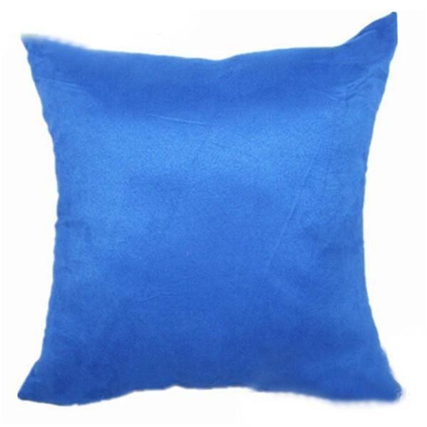 Mavi Süet Kırlent