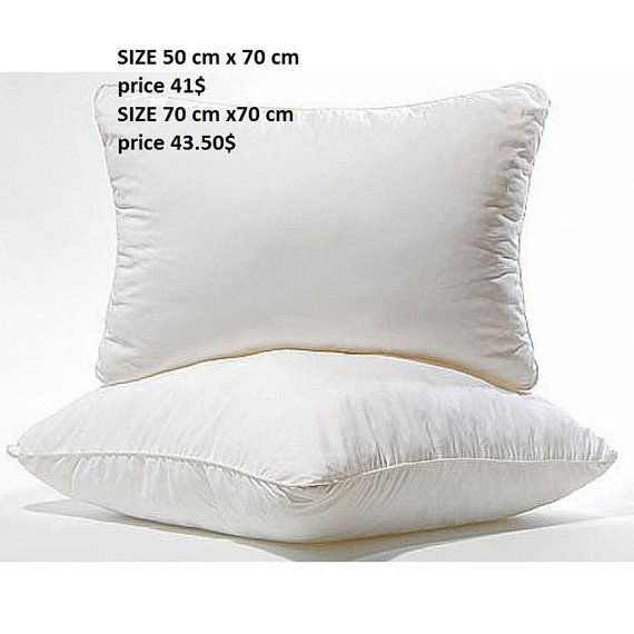Action Saturday from 9-00 to 21-00, buy and receive gifts.Pillow for bedroom natural down white goose in от LuxuryTextiles37