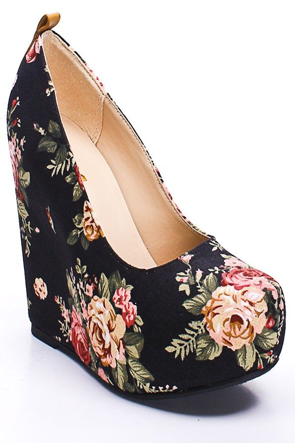 Best 25 Floral Wedges Ideas On Pinterest Shoes Heels