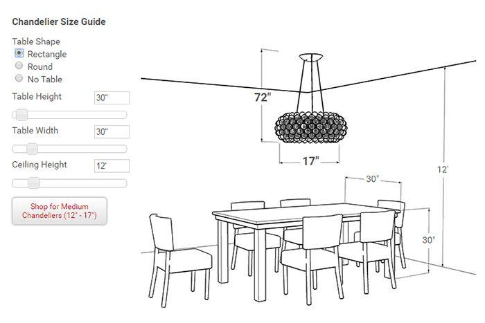 Lightology S Chandelier Size Calculator Dining Table Sizes Dining Room Table Light Dining Room Chandelier