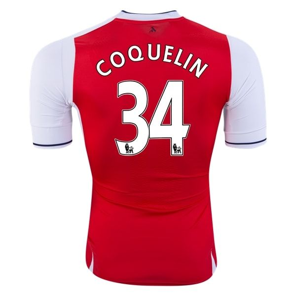 PUMA Francis Coquelin Arsenal Authentic Home Jersey 16/17