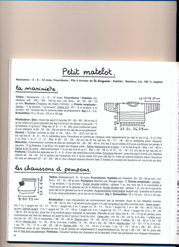 pull mariniere pour bebe a tricoter - Recherche Google