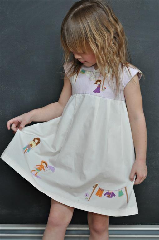 Geranium dress with fabulous applique!