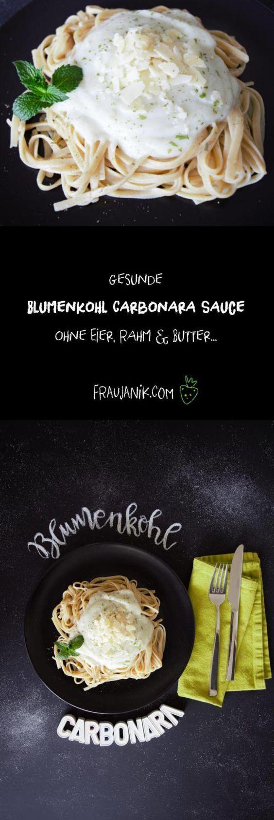 Bumenkohl Carbonara Sauce