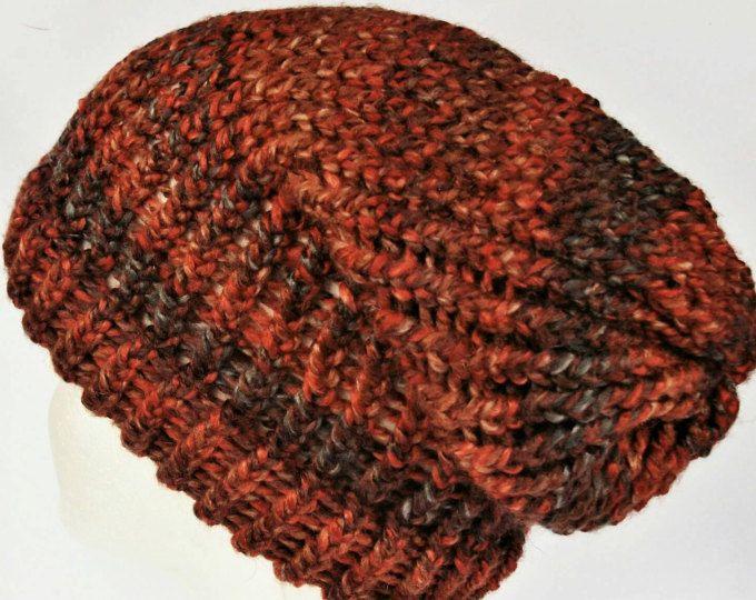 Multi coloured dreadlocks hat pink slouch hat boho beanie