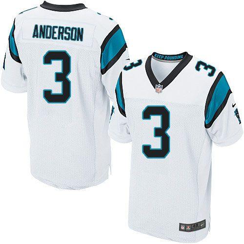 Men Nike Carolina Panthers #3 Derek Anderson Elite White NFL Jersey Sale