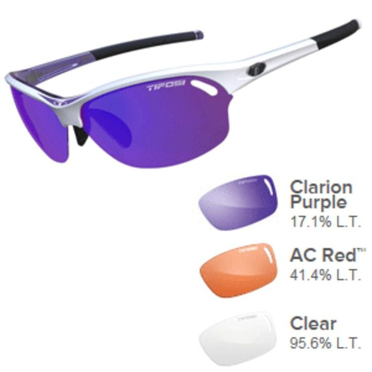 Tifosi Wasp Clarion Purple/AC Red™/Clear Lens Sunglasses - Race Purple