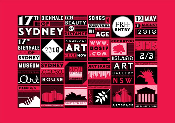 Creative Review - 17th Biennale of Sydney identity