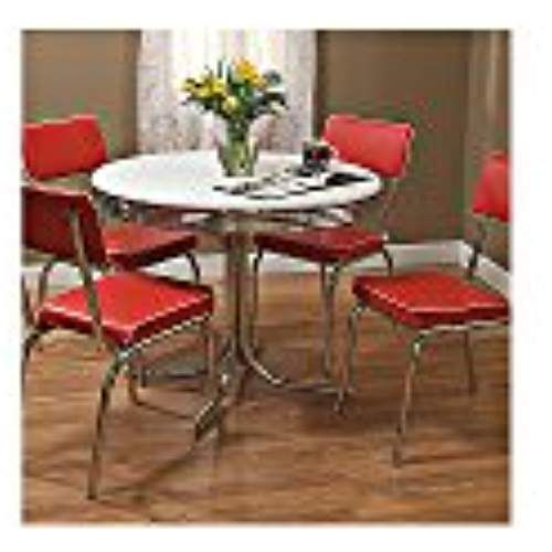 Target Marketing Systems 5 Piece Retro Dining Set With 4 Dining