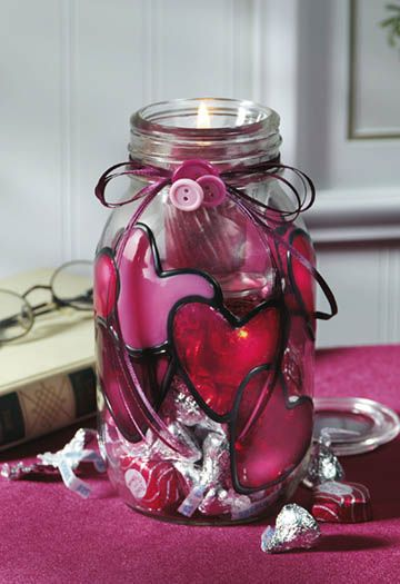 Crafts with glass jars valentine 39 s day craft archives for Crafts using glass jars