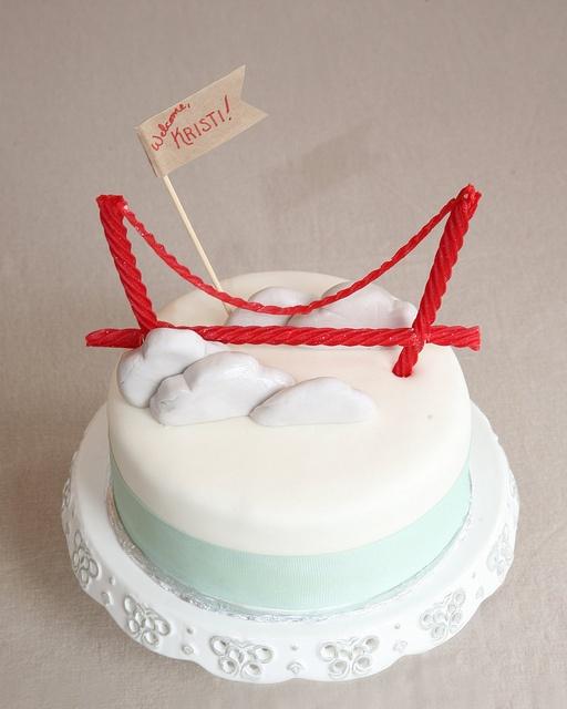 Foot Bridge Cake Topper