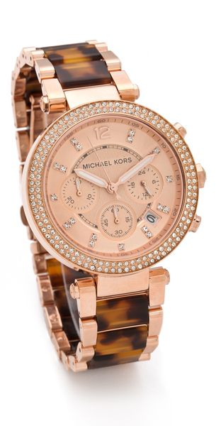 """I am not into designer items strictly for status...but this Watch is GORGEOUS!   Definetly adding to my """"wish list"""".    Michael Kors Parker Glitz Chronograph Watch"""