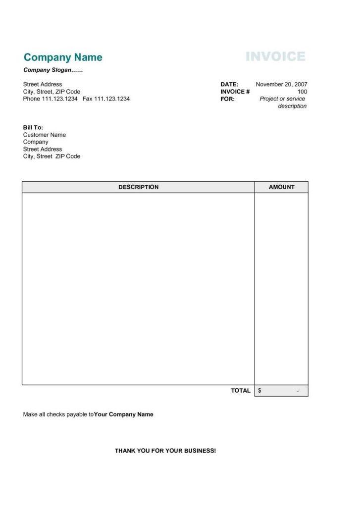Great Repair Bill Template And Simple Invoice Sample Free Design Invoice Template Regard To Payment Invoice Template Free